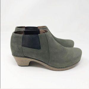 DANSKO Marilyn Leather Ankle Clog Booties Size 38